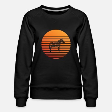 Animal Welfare Zebra silhuette in the sunset - Women's Premium Sweatshirt