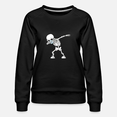 Humour Dabbing skeleton face mask - Women's Premium Sweatshirt