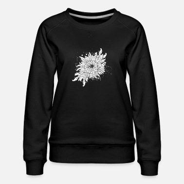 Stylish white chrysanthemum - Women's Premium Sweatshirt