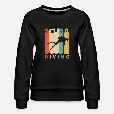 Diver diving dive dive snorkeling - Women's Premium Sweatshirt