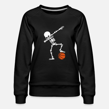 Basket Dab dabbing skeleton football basketball - Sweat ras-du-cou Premium Femme