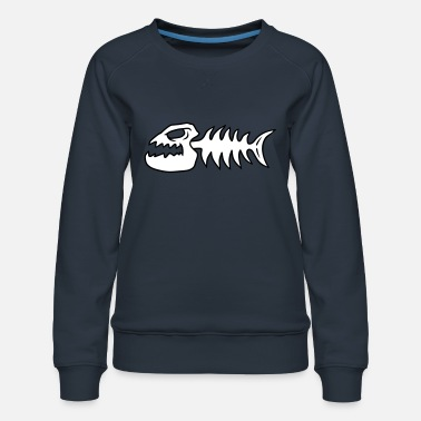 Je M En Fish Fish Bone Monster - Sweat ras-du-cou Premium Femme