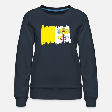 Mask Vatican National Flag - brush vertical - Women's Premium Sweatshirt