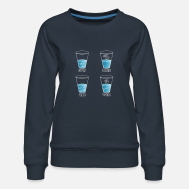 Biology Water glass for physicist - Women's Premium Sweatshirt