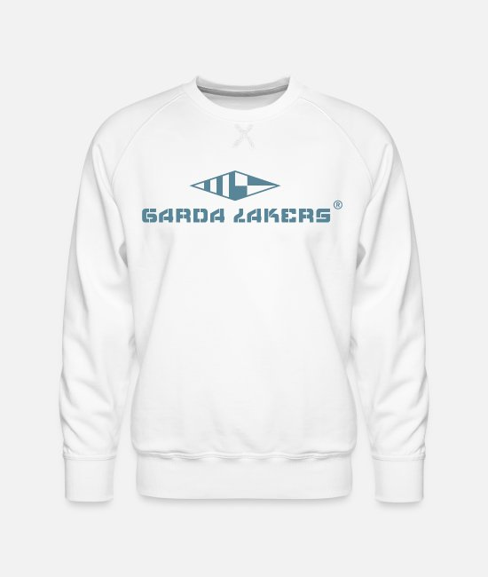 Sail Boat Hoodies & Sweatshirts - Garda Lakers logo - Men's Premium Sweatshirt white