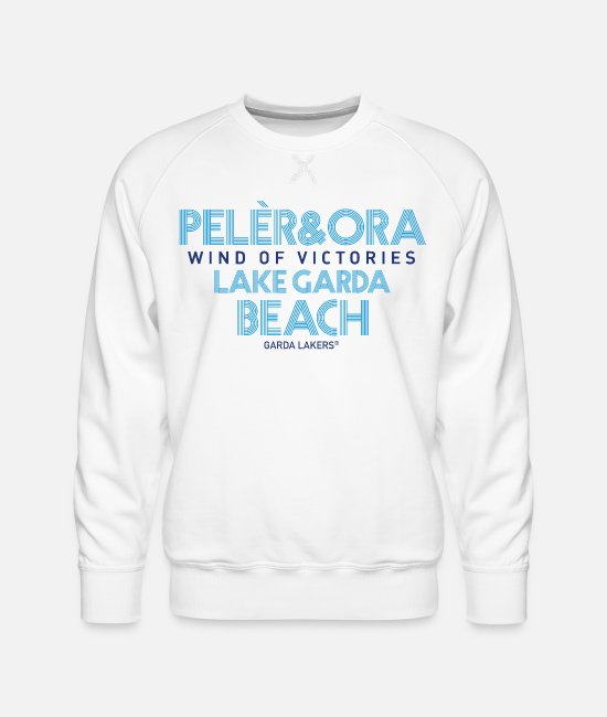 Sail Boat Hoodies & Sweatshirts - Garda Lakers Pelèr & Ora - Men's Premium Sweatshirt white