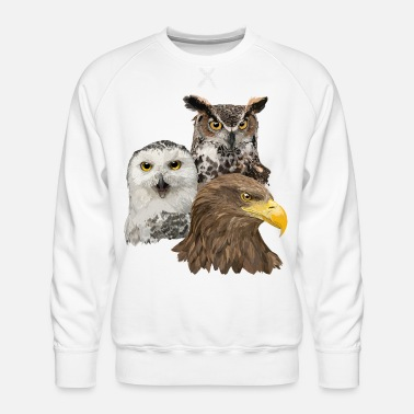Beak Pigargo and Owls - Men's Premium Sweatshirt