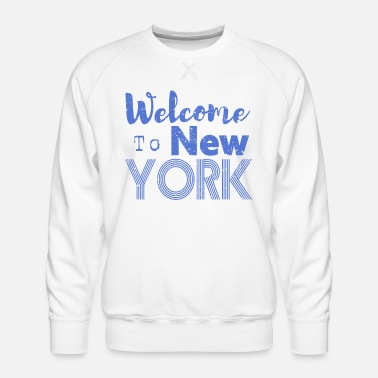Nyc Welcome to New York Vintage - Männer Premium Pullover