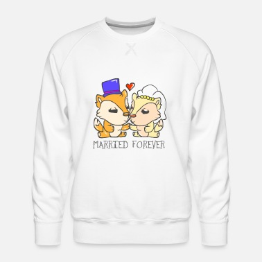 Cards Wedding marriage marriage marriage married - Men's Premium Sweatshirt