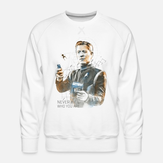 Space Ship Hoodies & Sweatshirts - Star Trek Discovery Paul Stamets Portait - Men's Premium Sweatshirt white