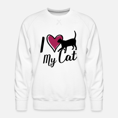 I love my cat heart - Men's Premium Sweatshirt