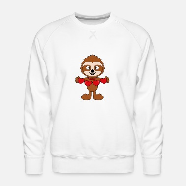 Heart Sloth - Hearts - Love - Baby - Gifts - Men's Premium Sweatshirt