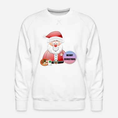 Scene Underwear Santa 16 Merry Christmas - Men's Premium Sweatshirt