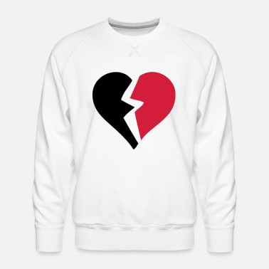 Breaking love heart heart break break break - Men's Premium Sweatshirt