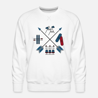 Winter Winter sports - Men's Premium Sweatshirt