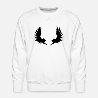 Skull Underwear Back Wings - Men's Premium Sweatshirt