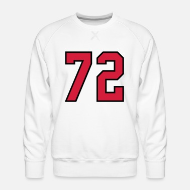 Age 72 sports jersey football number new - Men's Premium Sweatshirt