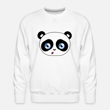 Beady Eyes Kawaii Panda Beady Eyes - Men's Premium Sweatshirt