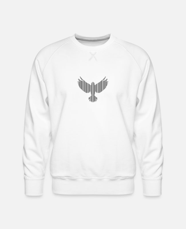 Heaven Hoodies & Sweatshirts - bird - Men's Premium Sweatshirt white