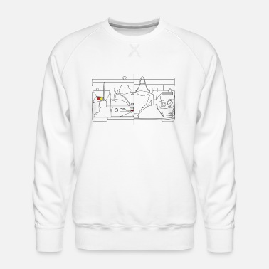 Race Car Racing car - Men's Premium Sweatshirt