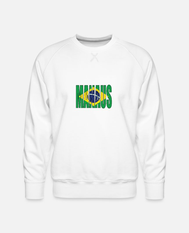 South America Hoodies & Sweatshirts - BRAZIL MANAUS - Men's Premium Sweatshirt white