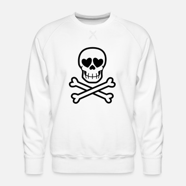 Eros & Thanatos Skull and Crossbones by Cheerful - Men's Premium Sweatshirt