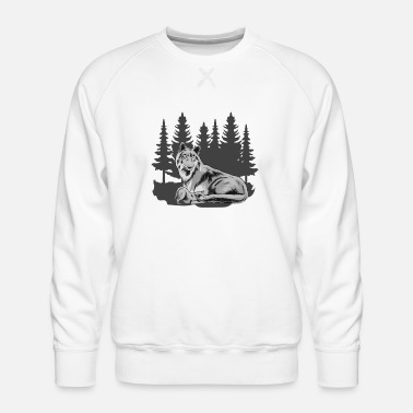 Wolfskind Wolfskind Wolf Wolf pack Wolf mother forest shirt - Men's Premium Sweatshirt