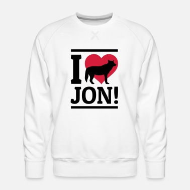 Jon I love Jon - Men's Premium Sweatshirt