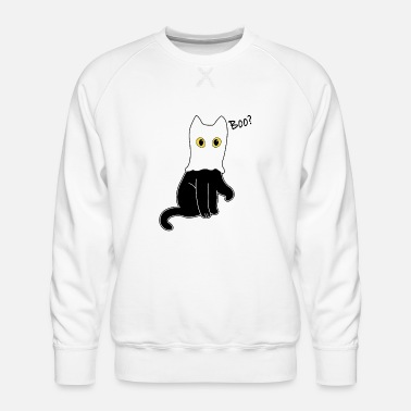 Kat Halloween Ghost Boo Shirt - Mannen premium sweater