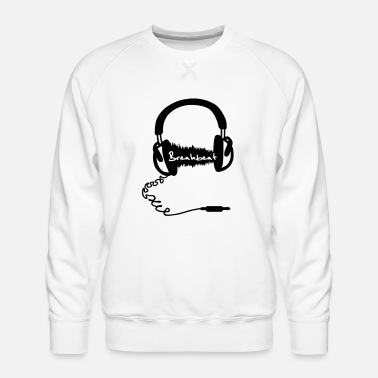 Breakbeat Headphones Headphones Audio Wave Motif: Breakbeat - Men's Premium Sweatshirt
