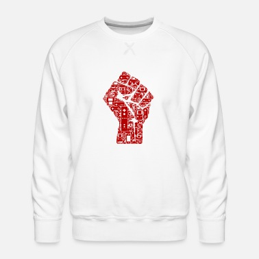 Révolution Gamer fist revolution - Sweat ras-du-cou Premium Homme