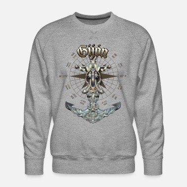 Gijón Anchor Nautical Sailing Boat Summer - Men's Premium Sweatshirt