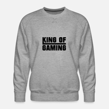 Gamer Koning van gaming - Mannen premium sweater