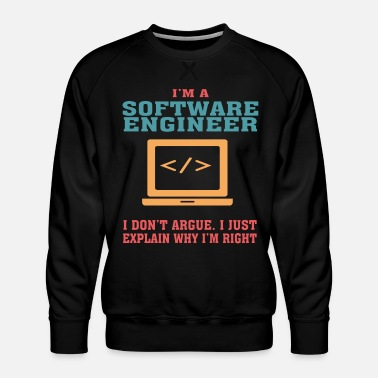 Software Bestseller Software Engineer Tshirt, Keep Calm - Mannen premium sweater