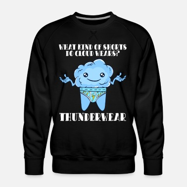 Water Underwear Fog Clouds Teacher Cloud Wears Thundershorts - Men's Premium Sweatshirt