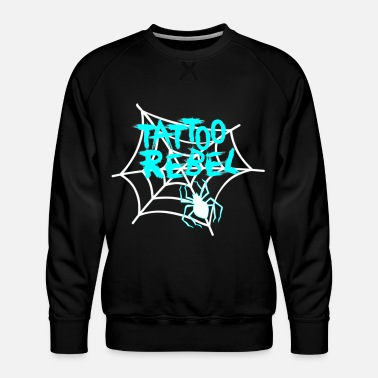 Tattoo Rebel Turquoise Spider - Mannen premium sweater