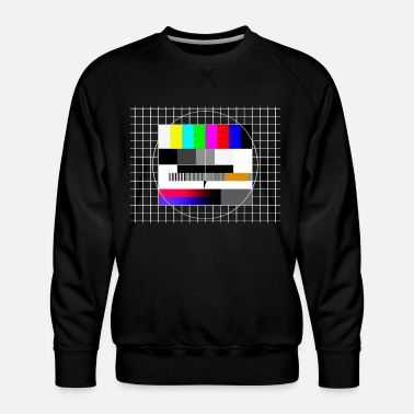 Tv Television Test Pattern 90s Party 80s Retro 90s - Mannen premium sweater
