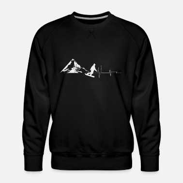 Ski Resort Ski resort with ski instructor in ski school in Alps - Men's Premium Sweatshirt