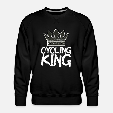 Bike Chrismas cycling king - Männer Premium Pullover