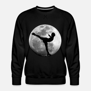 Wintersport Kunstschaatser in volle maanballetdans - Mannen premium sweater