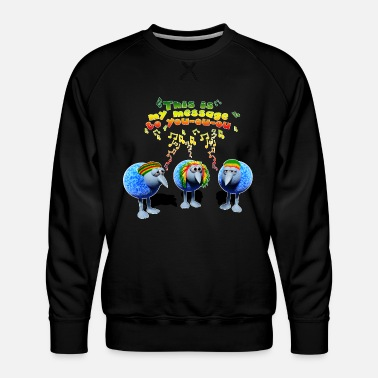 three little RASTA birds - Männer Premium Pullover
