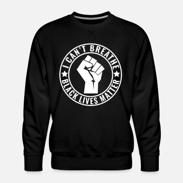 Afro I Can't Breathe Shirt Black Lives Matter Fist - Premiumtröja herr