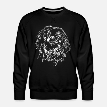 PEKINGESE dog dogs portrait wilsigns dogs - Men's Premium Sweatshirt
