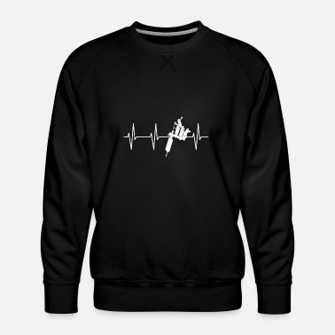 TATTOO HEART BEAT - Mannen premium sweater