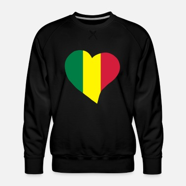 Rasta Colours Rasta heart - Men's Premium Sweatshirt