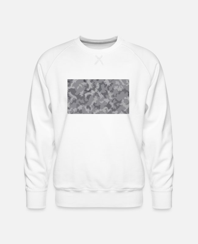 Snow Hoodies & Sweatshirts - Snow Camoflage Digitalized - Men's Premium Sweatshirt white