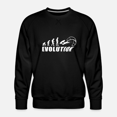 Evolution kitesurf sea vacation gift - Men's Premium Sweatshirt