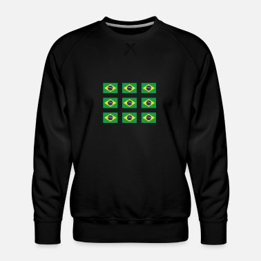 Panema BRAZIL FLAGS - Men's Premium Sweatshirt