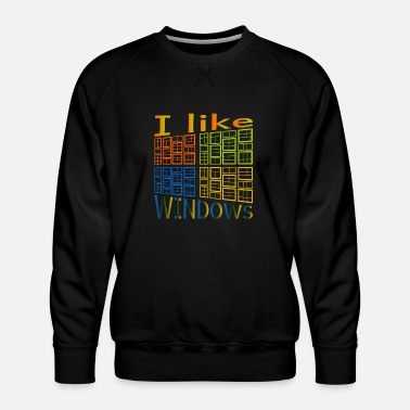 Windows J'aime de Windows - Sweat ras-du-cou Premium Homme