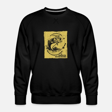 Bass God Created Saltwater for Bass Fishing Gift - Männer Premium Pullover